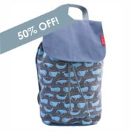 Whale backpack 50% off