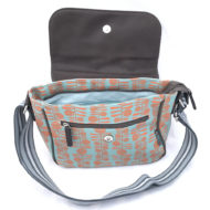 Berries print Satchel open
